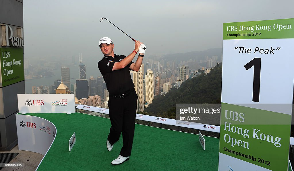 Paul Lawrie of Scotland poses during The 2012 UBS Hong Kong Open 'Meet the Players' Press Conference and Tournament Photo Call at The Peak Tower on November 13, 2012 in Hong Kong, Hong Kong.