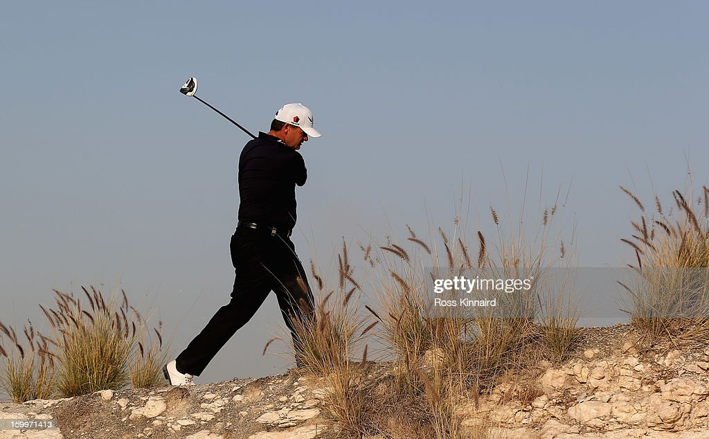 <a gi-track='captionPersonalityLinkClicked' href=/galleries/search?phrase=Paul+Lawrie&family=editorial&specificpeople=202995 ng-click='$event.stopPropagation()'>Paul Lawrie</a> of Scotland walks off of the 16th tee during the second round of the Commercial Bank Qatar Masters at The Doha Golf Club on January 24, 2013 in Doha, Qatar.
