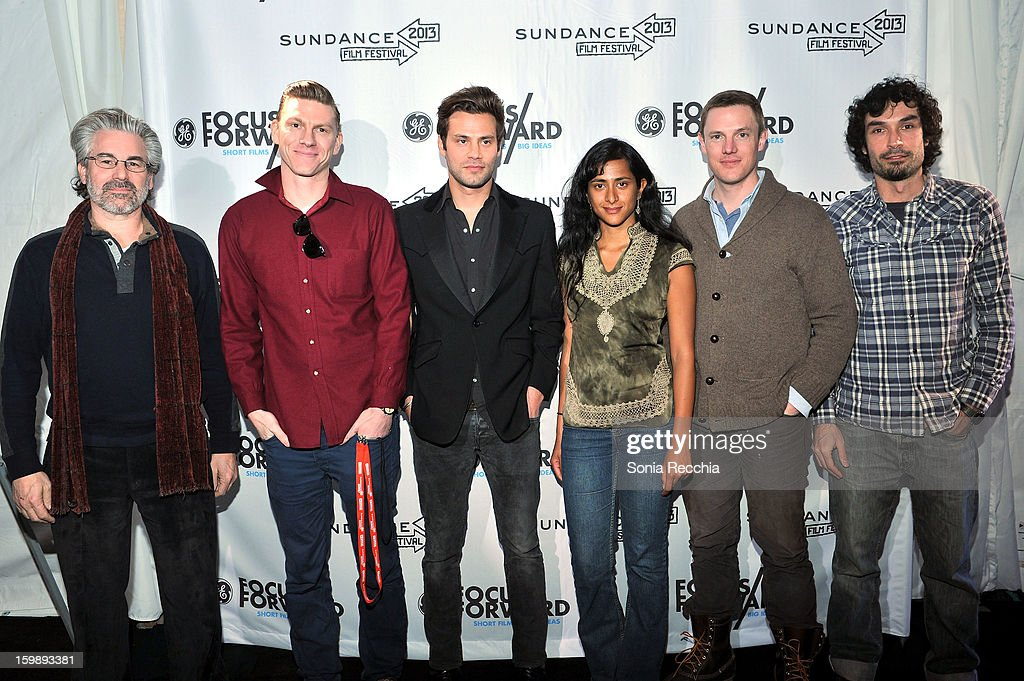 Paul Lazarus, Callum Cooper, Jared P. Scott, Kim Munsamy, Kelly Nyks and Rafel Duran Torrent attend the Focus Forward, GE and Cinelan Awards Event featuring 'Girl Rising' at The Shop during the 2013 Sundance Film Festival on January 22, 2013 in Park City, Utah.