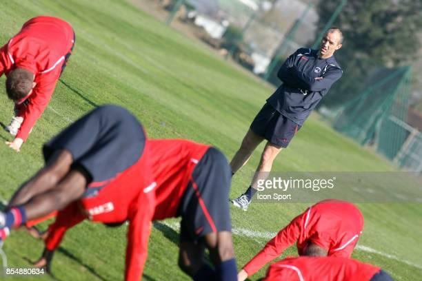 Paul LE GUEN entrainement et decrassage du PSG Camp des loges St Germain en laye