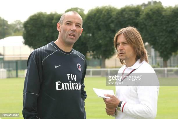 Paul LE GUEN / Daniel BRAVO Reprise entrainement du PSG Camp des Loges Saison 2007/2008