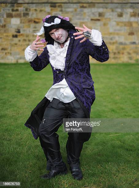 Paul Lidgard a dancer and radio DJ from Seacroft poses for the camera as he comes to the Goth weekend dressed in the style of Adam and the Ants on...