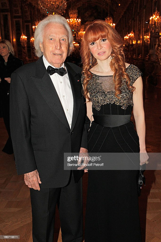 Paul Lombard (L) and Anouchka Weiss attend the gala dinner of Professor David Khayat's association 'AVEC', at Chateau de Versailles on February 4, 2013 in Versailles, France.