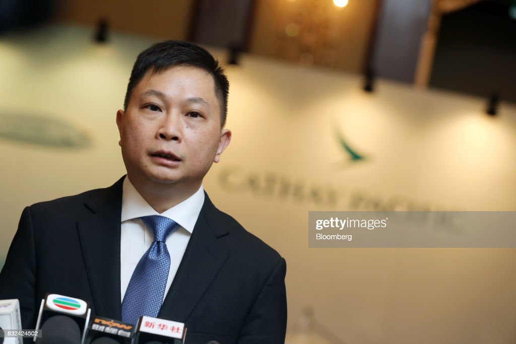Paul Loo, chief customer and commercial officer of Cathay Pacific Airways Ltd., speaks during a news conference in Hong Kong, China, on Wednesday, Aug. 16, 2017. Cathay Pacific is slipping in its efforts to get passengers to pay more for its premium services in a test for new Chief Executive Officer Rupert Hogg as the company reported back-to-back losses. Photographer: Paul Yeung/Bloomberg via Getty Images