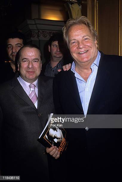 Paul Loup Sulitzer and Massimo Gargia during Massimo Gargia's Photographs Collection Exhibition April 27 2006 at Royal Monceau Hotel in Paris France