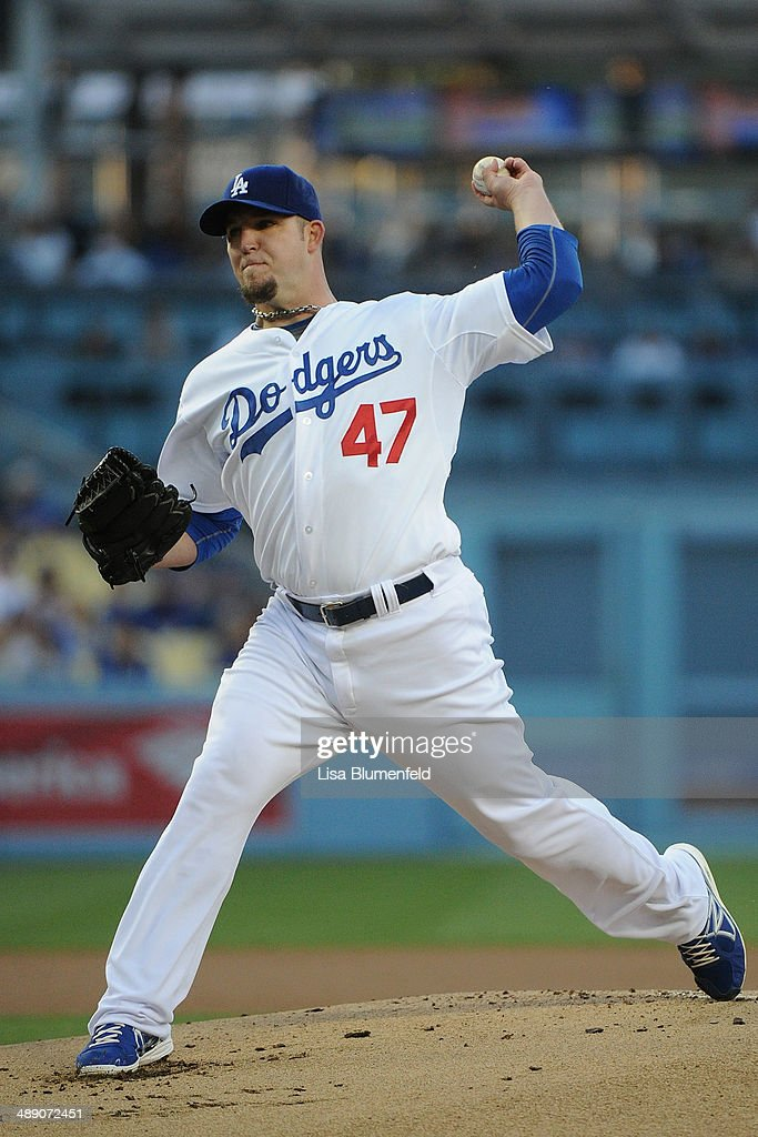 <a gi-track='captionPersonalityLinkClicked' href=/galleries/search?phrase=Paul+Maholm&family=editorial&specificpeople=585406 ng-click='$event.stopPropagation()'>Paul Maholm</a> #47 of the Los Angeles Dodgers pitches against the San Francisco Giants at Dodger Stadium on May 9, 2014 in Los Angeles, California.