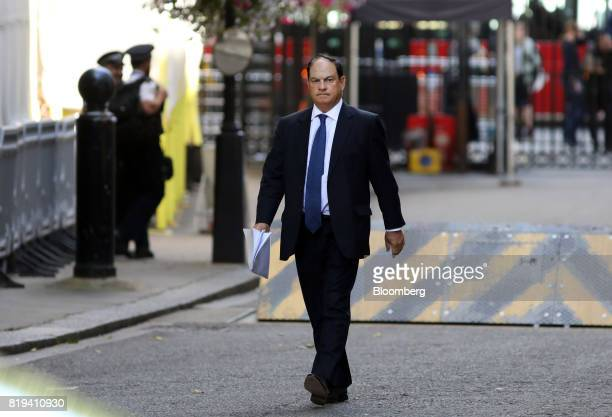 Paul Manduca chairman of Prudential Plc arrives in Downing Street for a business advisory group meeting in London UK on Thursday July 20 2017 UK...