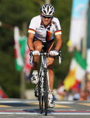 Paul Martens of Germany in action rides during the Men's Road Race at the 2009 UCI Road World Championships on September 27 2009 in Mendrisio...