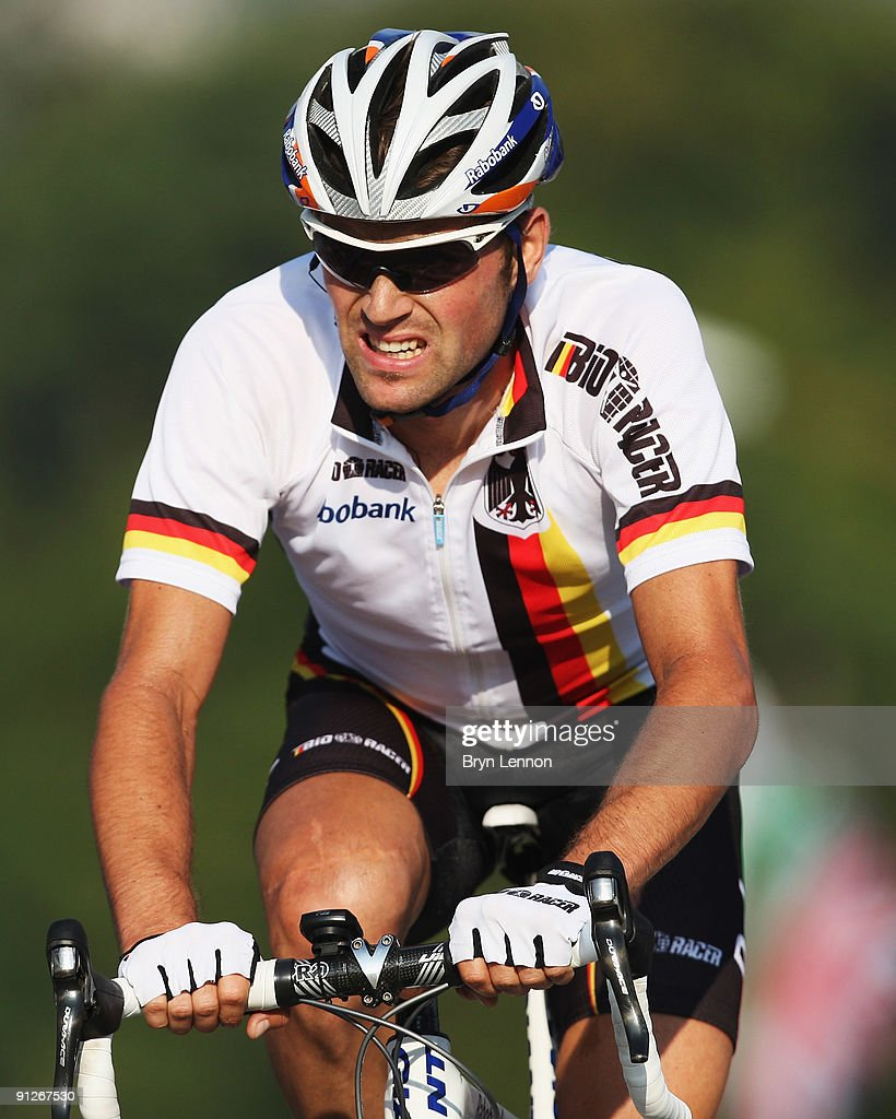 Paul Martens of Germany in action rides during the Men's Road Race at the 2009 UCI Road World Championships on September 27, 2009 in Mendrisio, Switzerland.