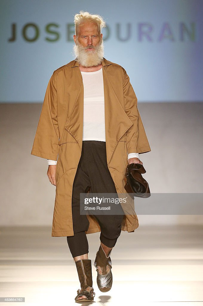 TORONTO, ON- AUGUST 13 - Paul Mason walks for the Jose Duran show in which the models have a desert feel during TOM*, Toronto Men's Fashion Week at Royal York Hotel in Toronto. August 13, 2014.