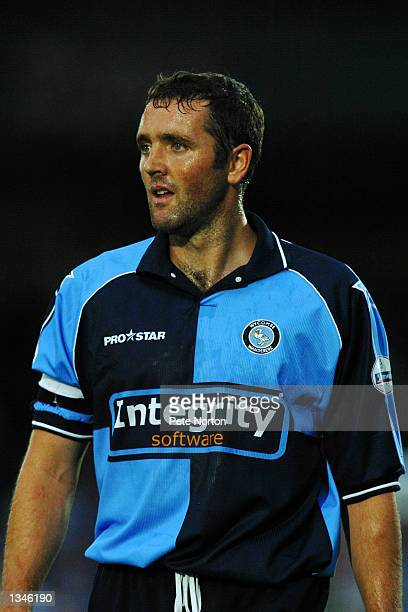 Paul McCarthy of Wycombe Town during the Nationwide League Divison Two match between Wycombe Wanderers and Northampton Town at Adams Park in Wycombe...