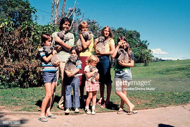 Paul McCartney and family In Brisbane zoo Brisbane November 1975