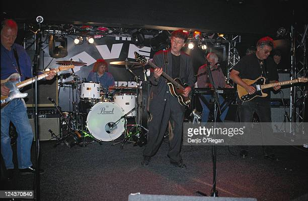 Paul McCartney and his allstar band rehearsing for their concert at the Cavern Club Liverpool 14th December 1999 Left to right David Gilmour Ian...