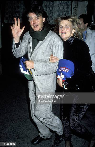 Paul McCartney and Linda McCartney during Party for Paul McCartney's Concert Performance at Sardi's Restaurant in New York City New York United States