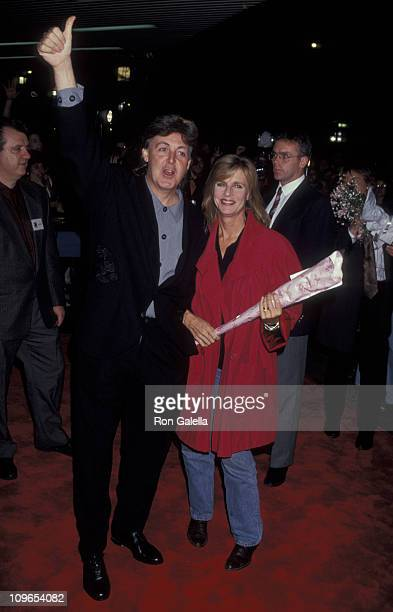 Paul McCartney and Linda McCartney during Screening of Paul McCartney's 'Get Back' at Baronet Theater in New York City New York United States