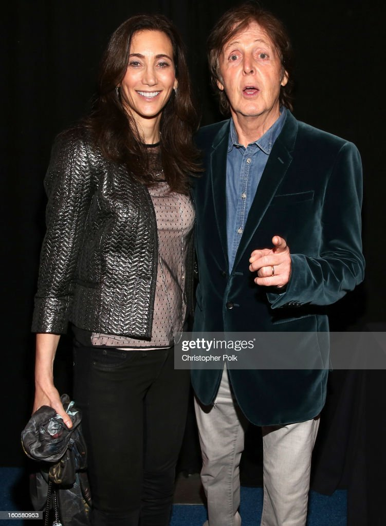 Paul McCartney (R) and <a gi-track='captionPersonalityLinkClicked' href=/galleries/search?phrase=Nancy+Shevell&family=editorial&specificpeople=5085391 ng-click='$event.stopPropagation()'>Nancy Shevell</a> attend DIRECTV Super Saturday Night Featuring Special Guest Justin Timberlake & Co-Hosted By Mark Cuban's AXS TV on February 2, 2013 in New Orleans, Louisiana.