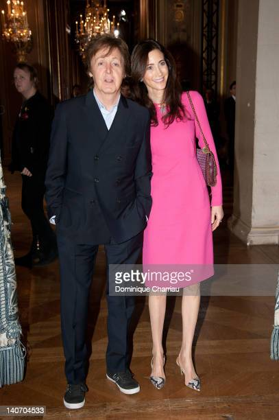 Paul McCartney and Nancy Shevell attend the Stella McCartney ReadyToWear Fall/Winter 2012 show as part of Paris Fashion Week on March 5 2012 in Paris...