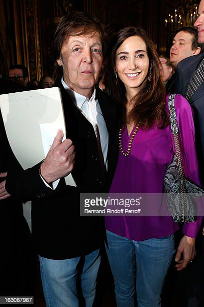 Paul McCartney and Nancy Shevell attend the Stella McCartney Fall/Winter 2013 ReadytoWear show as part of Paris Fashion Week on March 4 2013 in Paris...