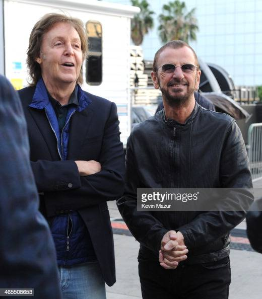 Paul McCartney and Ringo Starr attend 'The Night That Changed America A GRAMMY Salute To The Beatles' at Los Angeles Convention Center on January 27...