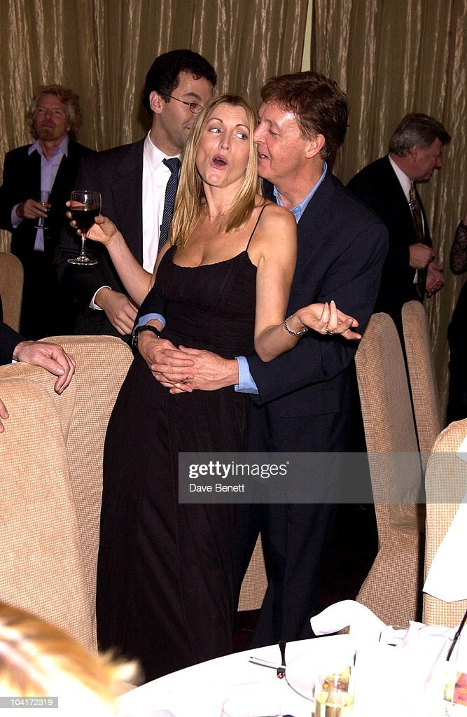 Paul Mccartney & Heather Mills, Richard Branson Party For The Newyork Mayor Rudolph Giuliani To Celebrate His Knighthood, Babylon Resaurant, Roof Gardens, Kensington.