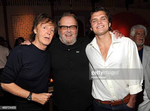 Paul McCartney Jack Nicholson and Ray Nicholson attend Apollo in the Hamptons at The Creeks on August 16 2014 in East Hampton New York