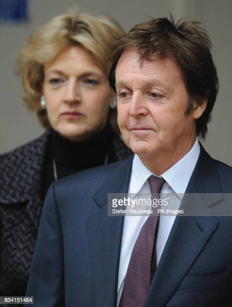 Paul McCartney leaves the High Court in London today with his solicitor Fiona Shackleton on the third day of his divorce hearing from Heather Mills