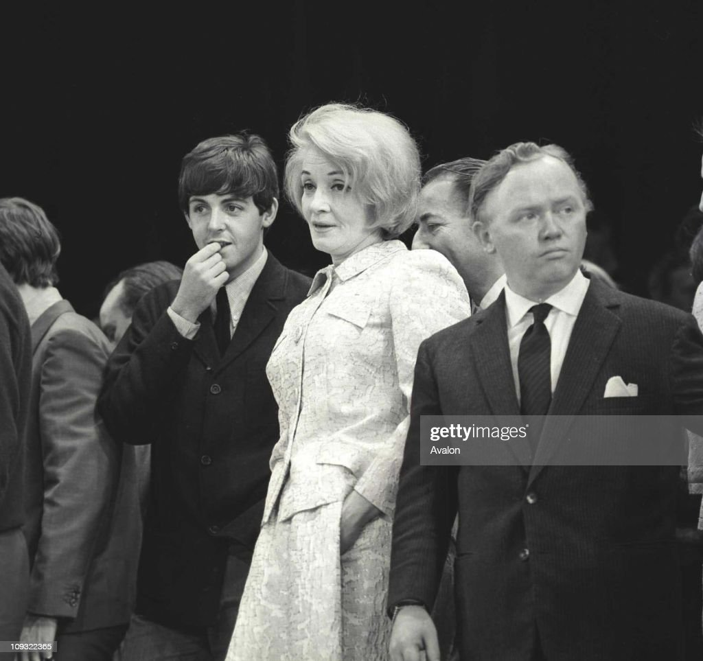Paul Mccartney, Member Of The Pop Group 'the Beatles'; Marlene Dietrich, Charlie Drake, on Stage At The Royal Variety Performance, At The Prince Of Wales Theatre, London, ..