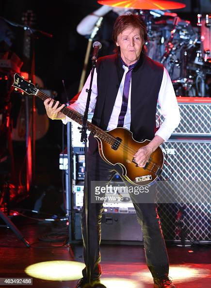Paul McCartney performs at Irving Plaza on February 14 2015 in New York City