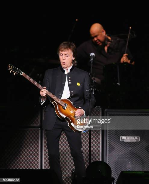 Paul McCartney performs at Qudos Bank Arena on December 11 2017 in Sydney Australia