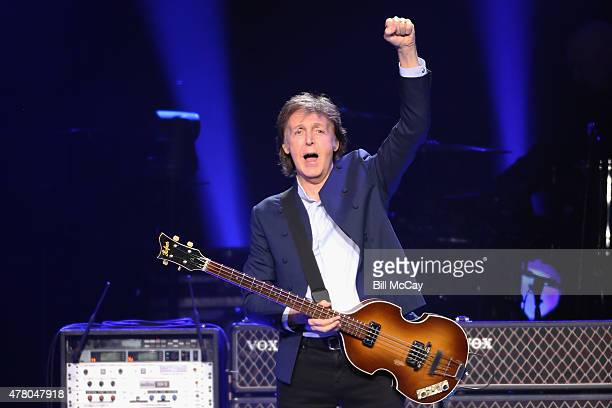 Paul McCartney performs at the Wells Fargo Center June 21 2015 in Philadelphia Pennsylvania