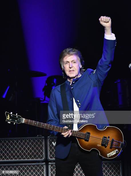 Paul McCartney performs in concert at American Airlines Arena on July 7 2017 in Miami Florida