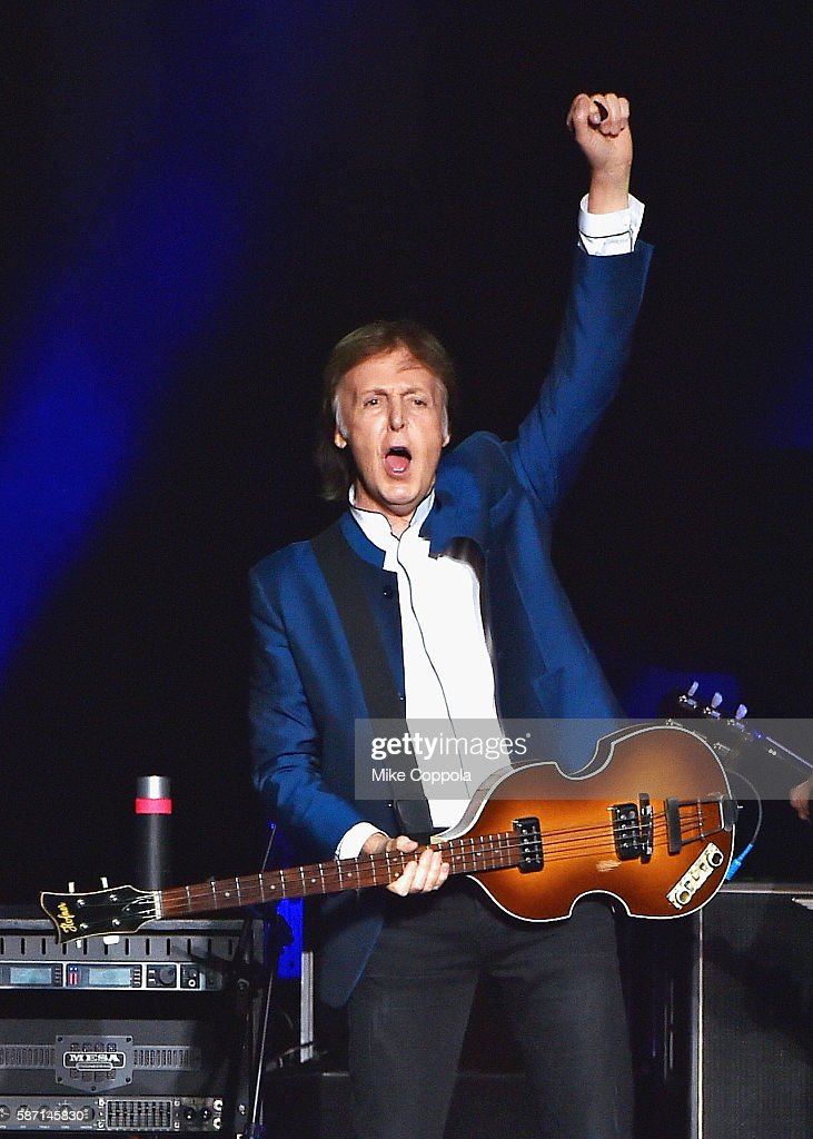 Paul McCartney performs in concert at MetLife Stadium on August 7 2016 in East Rutherford New Jersey