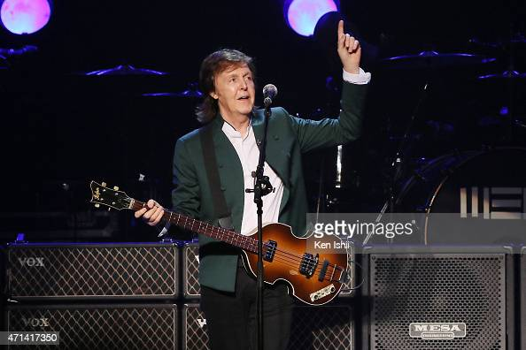 Paul McCartney performs live at the Budokan on April 28 2015 in Tokyo Japan