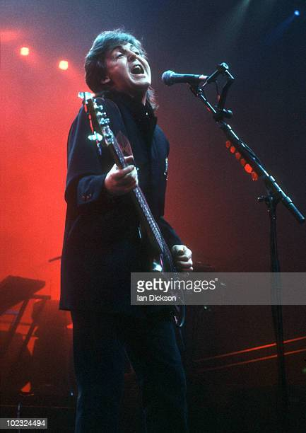 Paul McCartney performs live on stage at Wembley Arena on January 14 1990