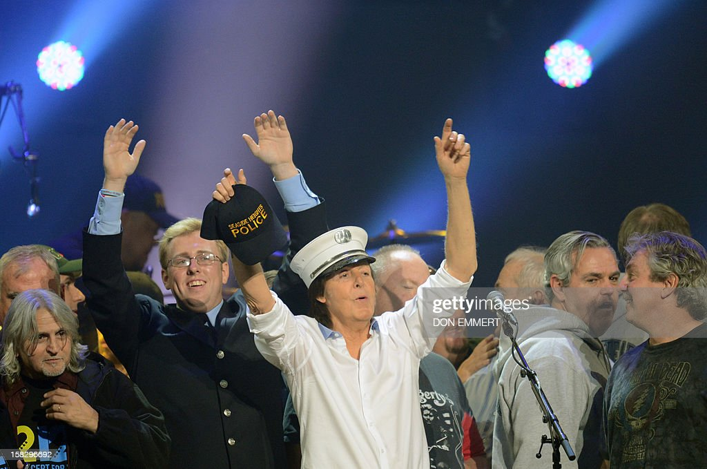 Paul McCartney performs on stage during the finale of '12-12-12 ~ The Concert For Sandy Relief' December 12, 2012 at Madison Square Garden in New York.