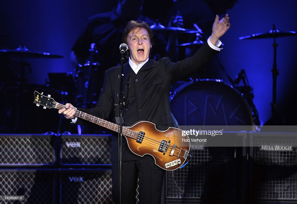 Paul McCartney performs on stage on his On The Run tour at Ahoy on March 24, 2012 in Rotterdam, Netherlands.