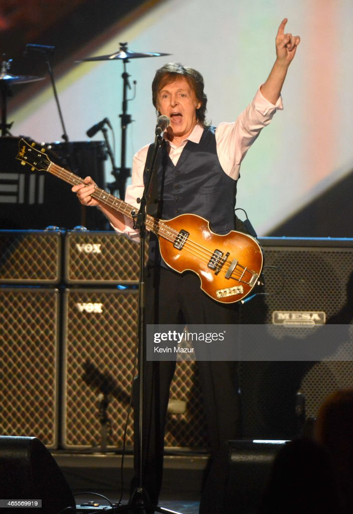 <a gi-track='captionPersonalityLinkClicked' href=/galleries/search?phrase=Paul+McCartney&family=editorial&specificpeople=92298 ng-click='$event.stopPropagation()'>Paul McCartney</a> performs onstage at 'The Night That Changed America: A GRAMMY Salute To The Beatles' at Los Angeles Convention Center on January 27, 2014 in Los Angeles, California.
