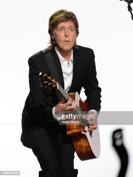 Paul McCartney performs onstage during The 57th Annual GRAMMY Awards at the STAPLES Center on February 8 2015 in Los Angeles California