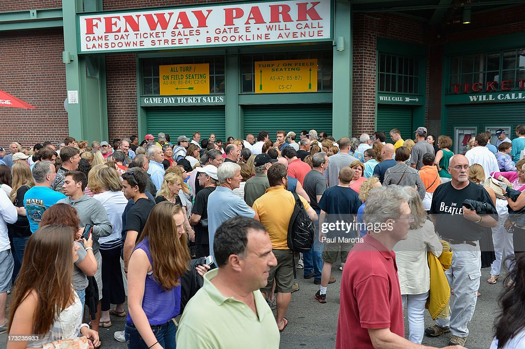 Paul McCartney performs to a sold-out Fenway Park audience of 36,064 on July 9, 2013 in Boston, Massachusetts. This figure sets a new Fenway Park concert attendance record and breaks McCartney's personal Fenway Park concert attendance record set in 2009.