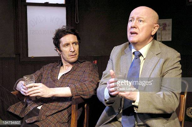 Paul McGann and Niall Buggy during The Gigli Concert Photocall at The Finborough Theatre in London Great Britain