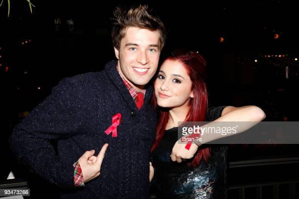 Paul McGill and Ariana Grande attend the 'Holiday Of Hope' TreeLighting Celebration And Benefit at Hollywood Highland Courtyard on November 28 2009...