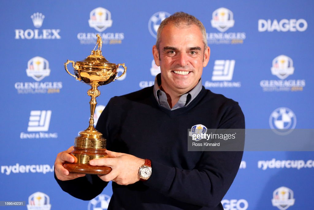 Paul McGinley is named as Ryder Cup Captain following a meeting of the Tournament Committee of The European Tour at The St. Regis Saadiyat Island Resort following practice at The Abu Dhabi HSBC Golf Championship at Abu Dhabi Golf Club on January 15, 2013 in Abu Dhabi, United Arab Emirates.