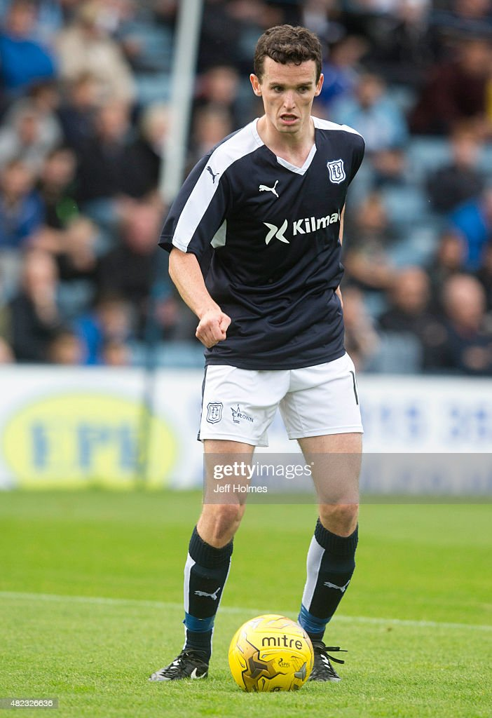 Paul McGinn for Dundee at the Pre Season Friendly between Dundee and Everton at Dens Park on July 28th 2015 in Dundee Scotland