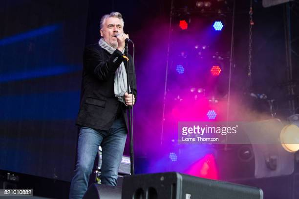 Paul McLoone of The Undertones performs on Day 2 of Rewind Festival at Scone Palace on July 22 2017 in Perth Scotland