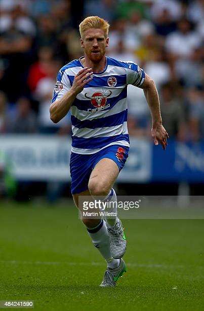 Paul McShane of Reading during the Sky Bet Championship match between Reading and Leeds United at Madejski Stadium on August 16 2015 in Reading...