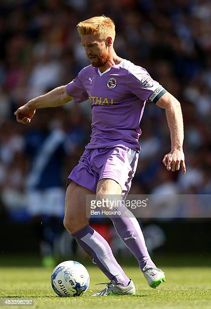 Paul McShane of Reading in action during the Sky Bet Championship match between Birmingham City and Reading at St Andrews Stadium on August 8 2015 in...