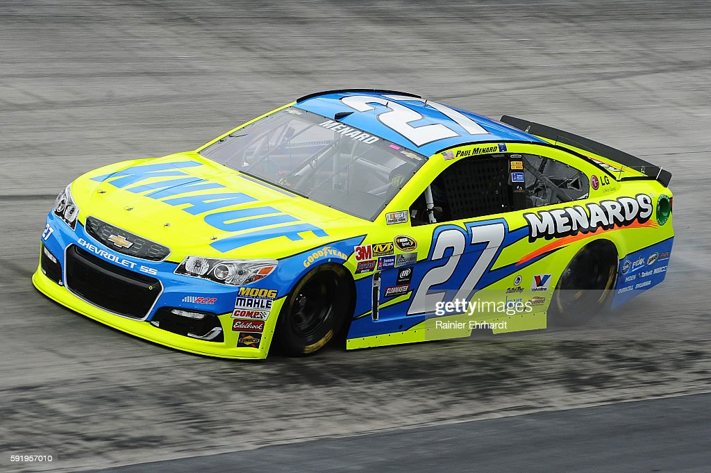 Paul Menard driver of the Knauf/Menards Chevrolet practices for the NASCAR Sprint Cup Series Bass Pro Shops NRA Night Race at Bristol Motor Speedway...