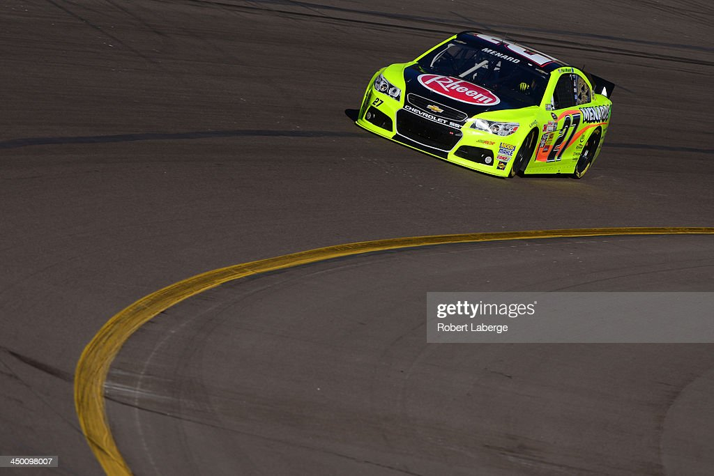 Paul Menard driver of the Rheem / Menard's Chevrolet during practice for the NASCAR Sprint Cup Series AdvoCare 500 at Phoenix International Raceway...