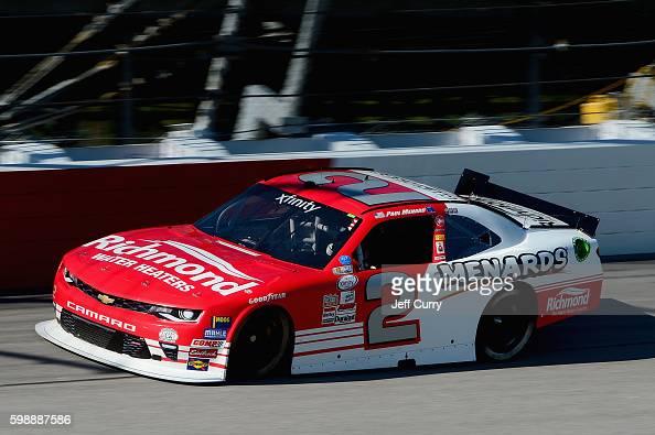 Paul Menard driver of the Richmond/Menards Chevrolet practices for the NASCAR XFINITY Series VFW Sport Clips Help A Hero 200 at Darlington Raceway on...