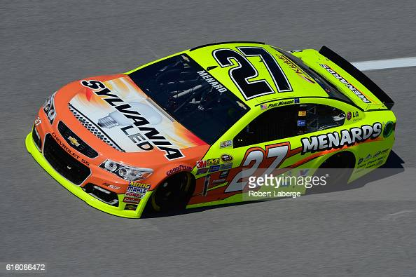 Paul Menard driver of the SYLVANIA/Menards Chevrolet practices for the NASCAR Sprint Cup Series Hellmann's 500 at Talladega Superspeedway on October...